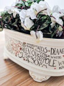 Wedding bespoke oval planter