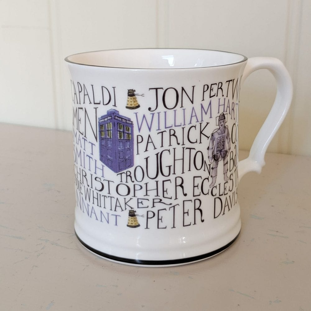 Dr Who Mug full of History on shelf