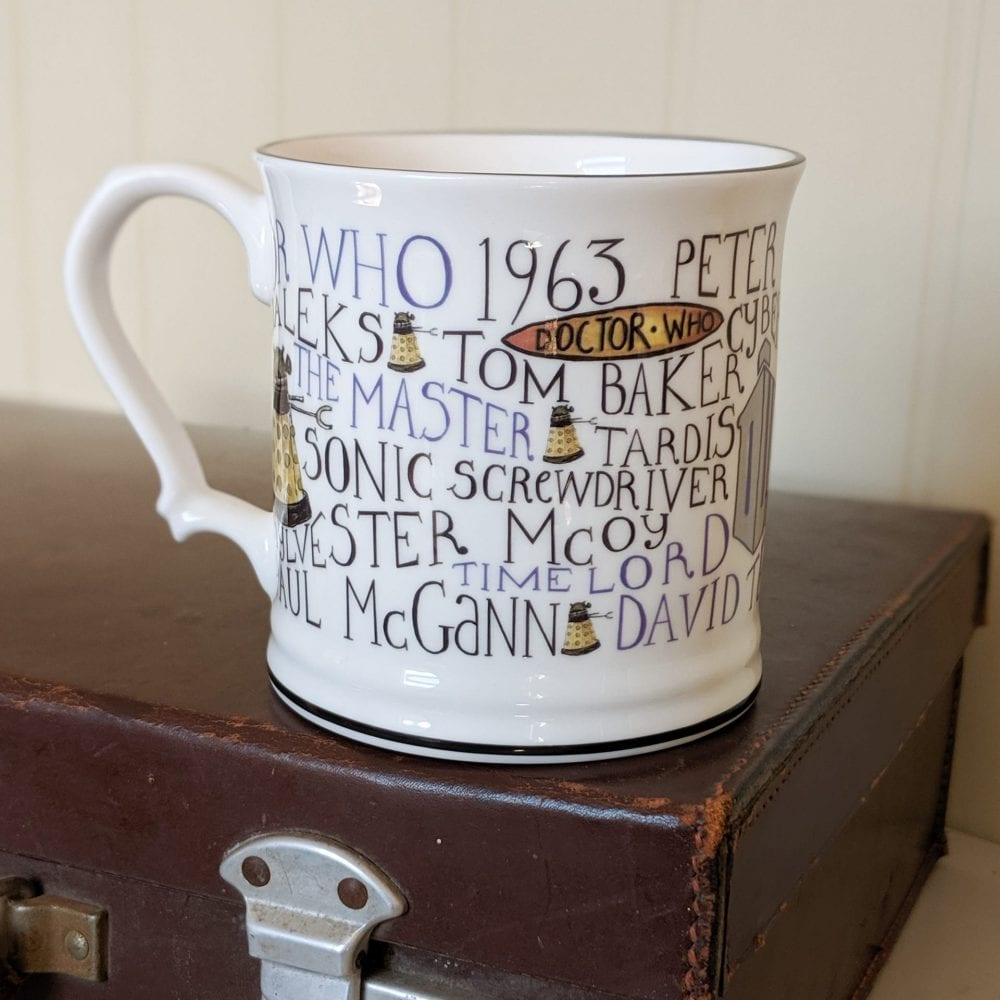 Doctor Who Mug full of History on case