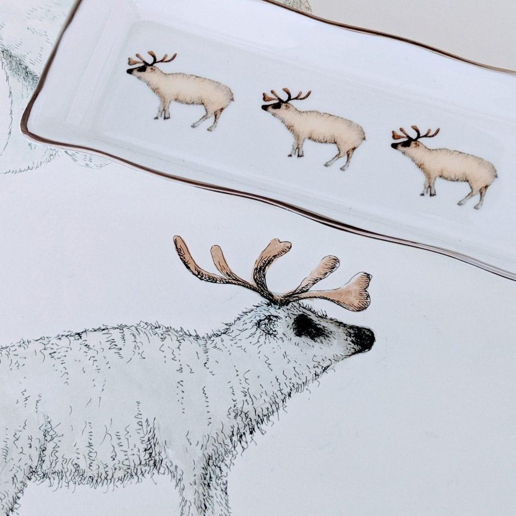 Reindeer mint tray